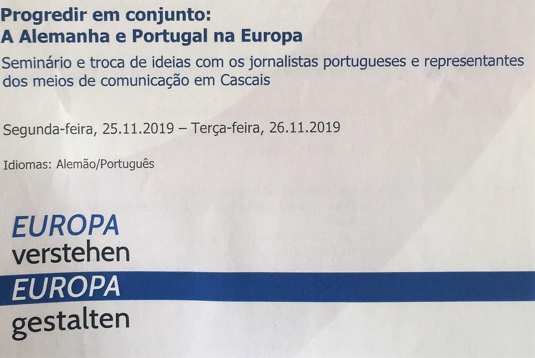 Seminário | Progredir em conjunto: A Alemanha e Portugal na Europa